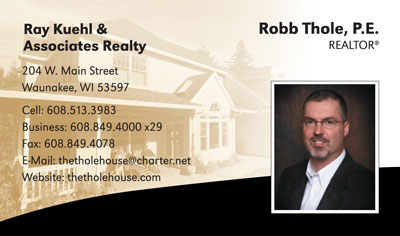 Robb Thole Realty Business Card